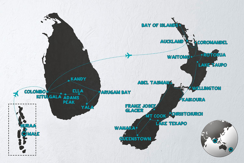 Maldiverne Sri Lanka New Zealand Grupperejser For Unge
