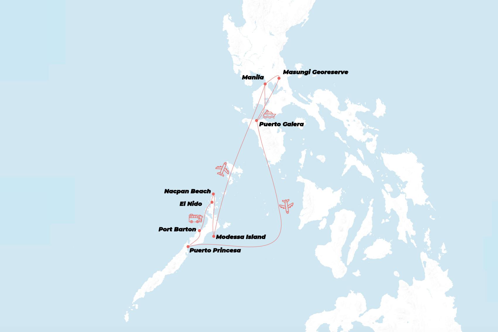 Manila Kort Kort Manila Filippinerne